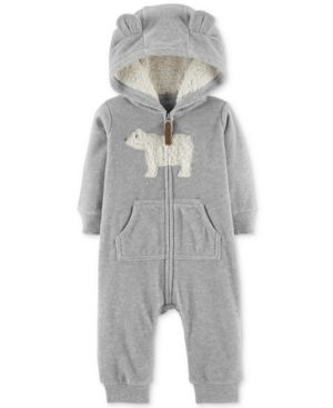 f1a7ab81b Carter s Baby Boys Hooded Bear Fleece Coverall - Gray 12 months ...