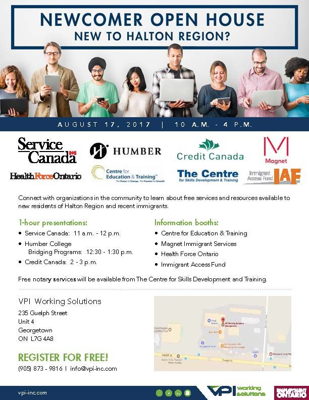 Are You A Newcomer To Canada Or To Halton Region Stop By The Newcomer Open House Next Thursday August 17 2017 Education And Training Youth Programs Halton