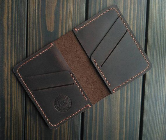 Christmas gifts Mini Wallet Distressed Leather Brown card holder Boyfriend gift Small wallet Thin wallet Card case gift Personalized gift,  #boyfriend #Brown #Card #Case #Christmas #Distressed #Gift #gifts #Holder #Leather #Mini #Personalized #Small #thin #Wallet