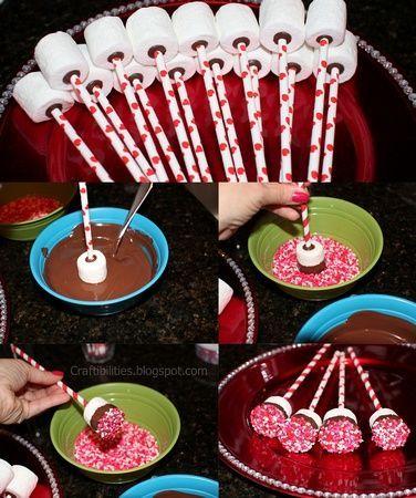 Chocolate dipped marshmallows #marshmallows