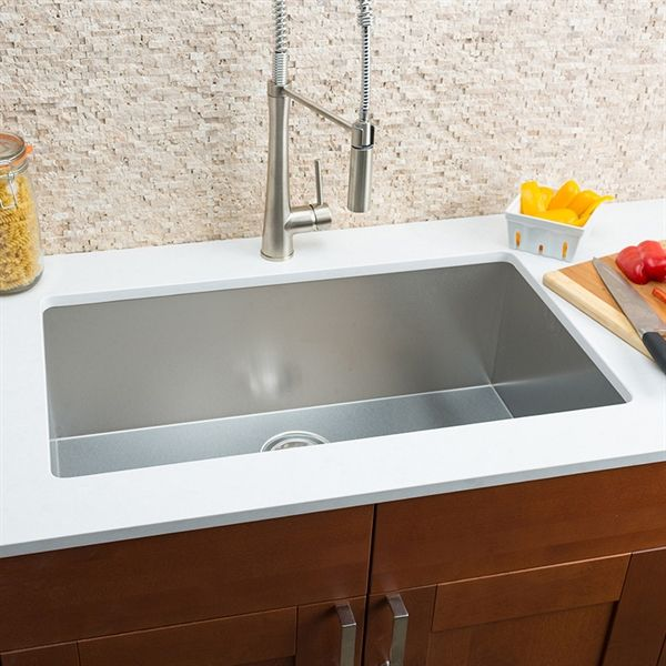 Shop Hahn ZR00 Small Radius Single Bowl Stainless Steel Sink at ...