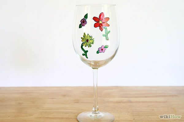 How to paint your own wine glasses