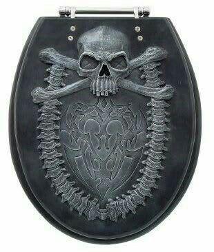 Skull Toilet Seat Gothic Home Decor Skull Decor Gothic Decor
