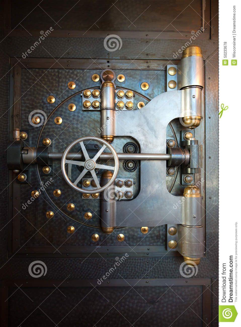 Vintage Bank Vault Door Safe Vault Doors Steampunk Door Safe Door