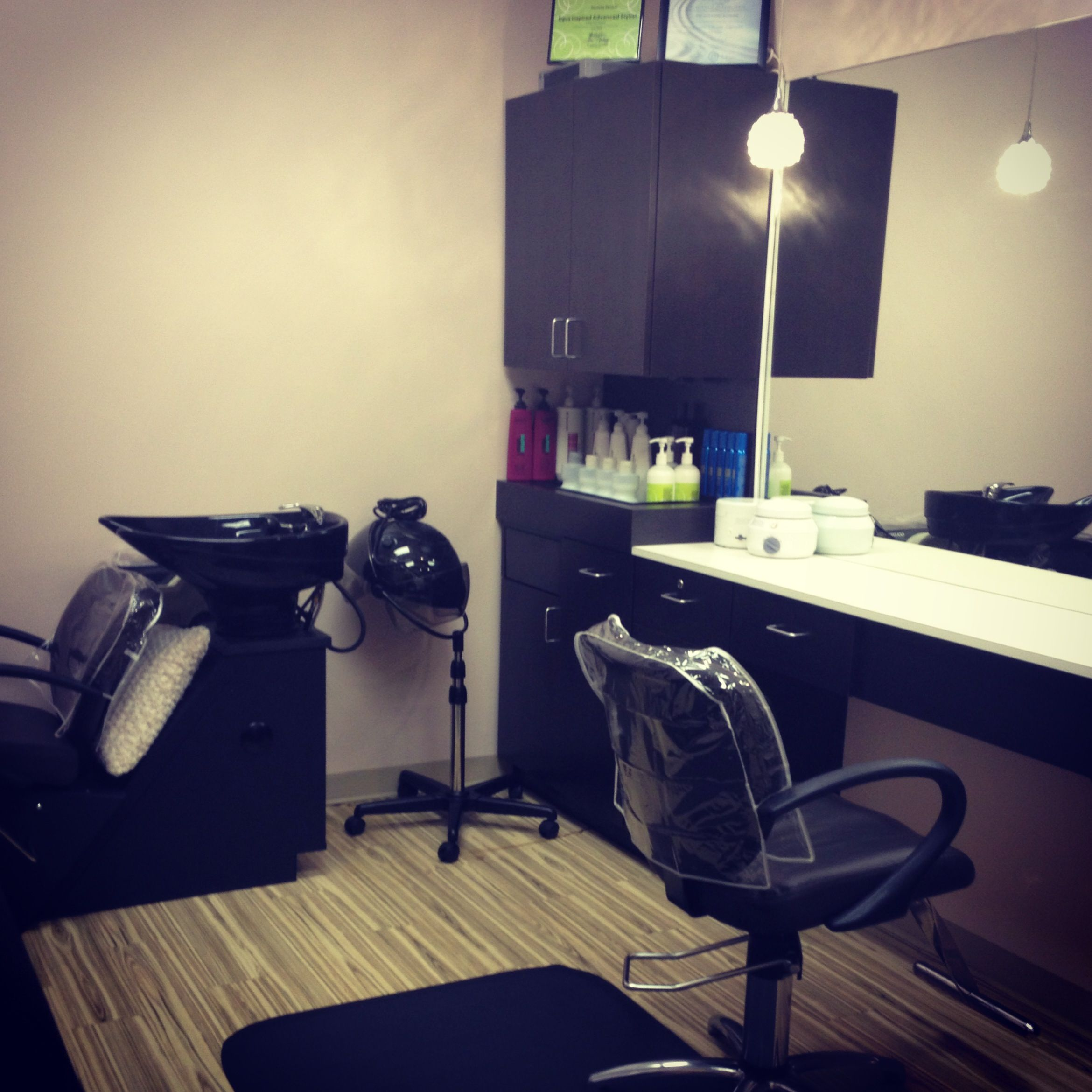 Here it is- my one room salon suite! 5650 W 86th St, suite 120 ...