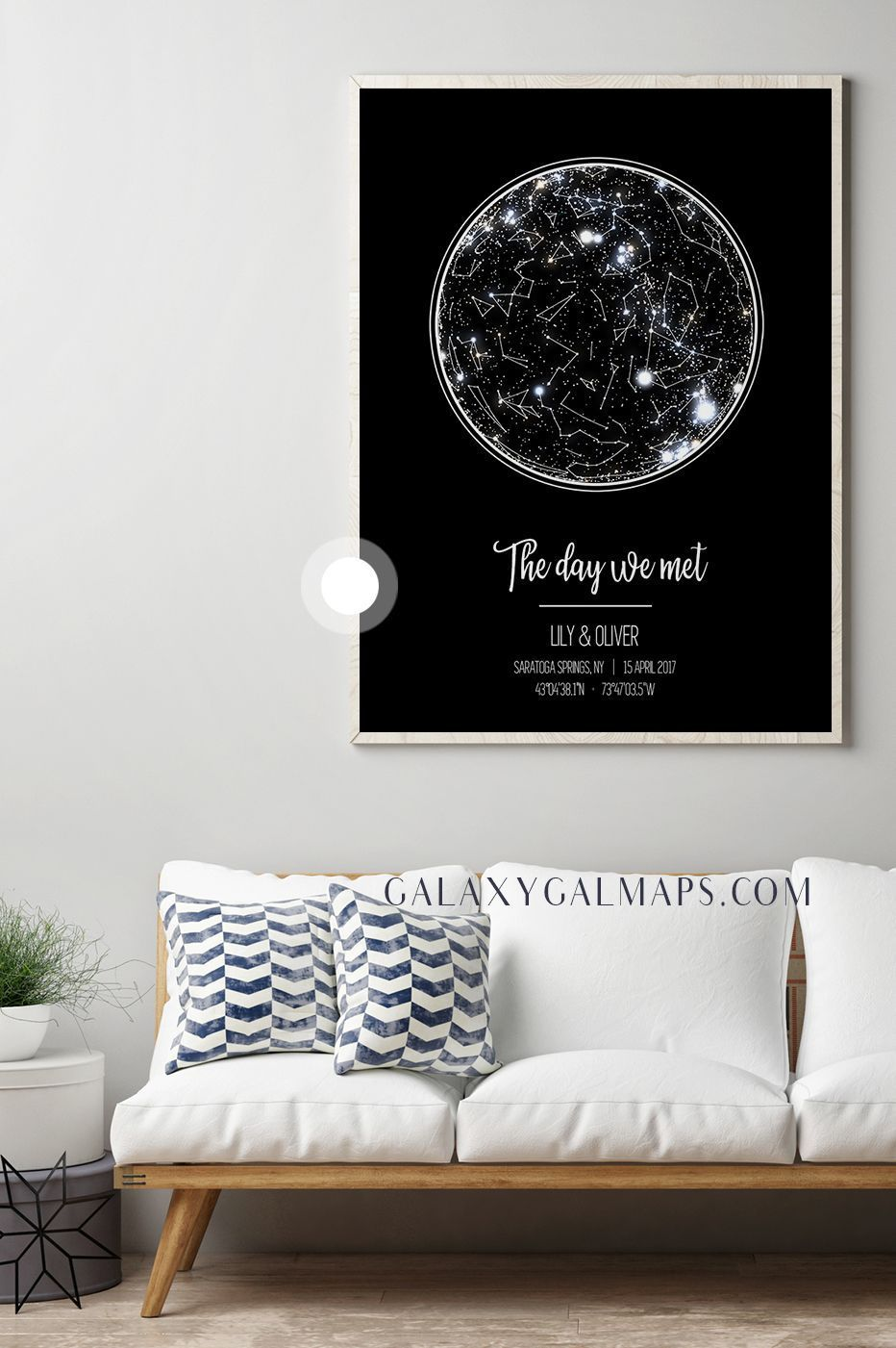 Custom star map bedroom wall decor art master teen kids girls boys
