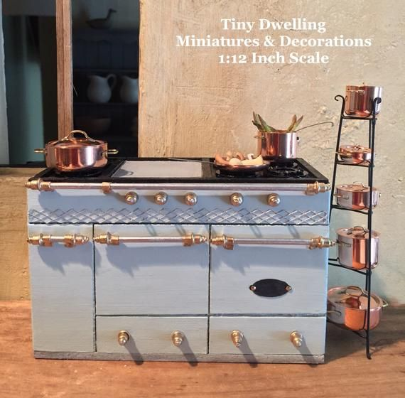 Miniatura Lacanche Cocina Francesa, Dollhouse Cocina Francesa, Miniatura Cocina Francesa, Dollhouse Cook, Dollhouse Cocina #miniaturekitchen