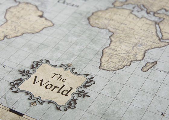 World map poster rustic vintage products world map poster rustic vintage gumiabroncs Images