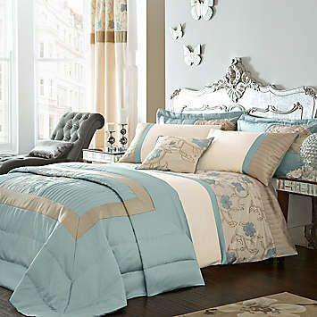 Catherine Lansfield Alicia Duck Egg Duvet Set From 20 00 Cozy Bedroom Design Duck Egg Bedroom Blue Bedroom
