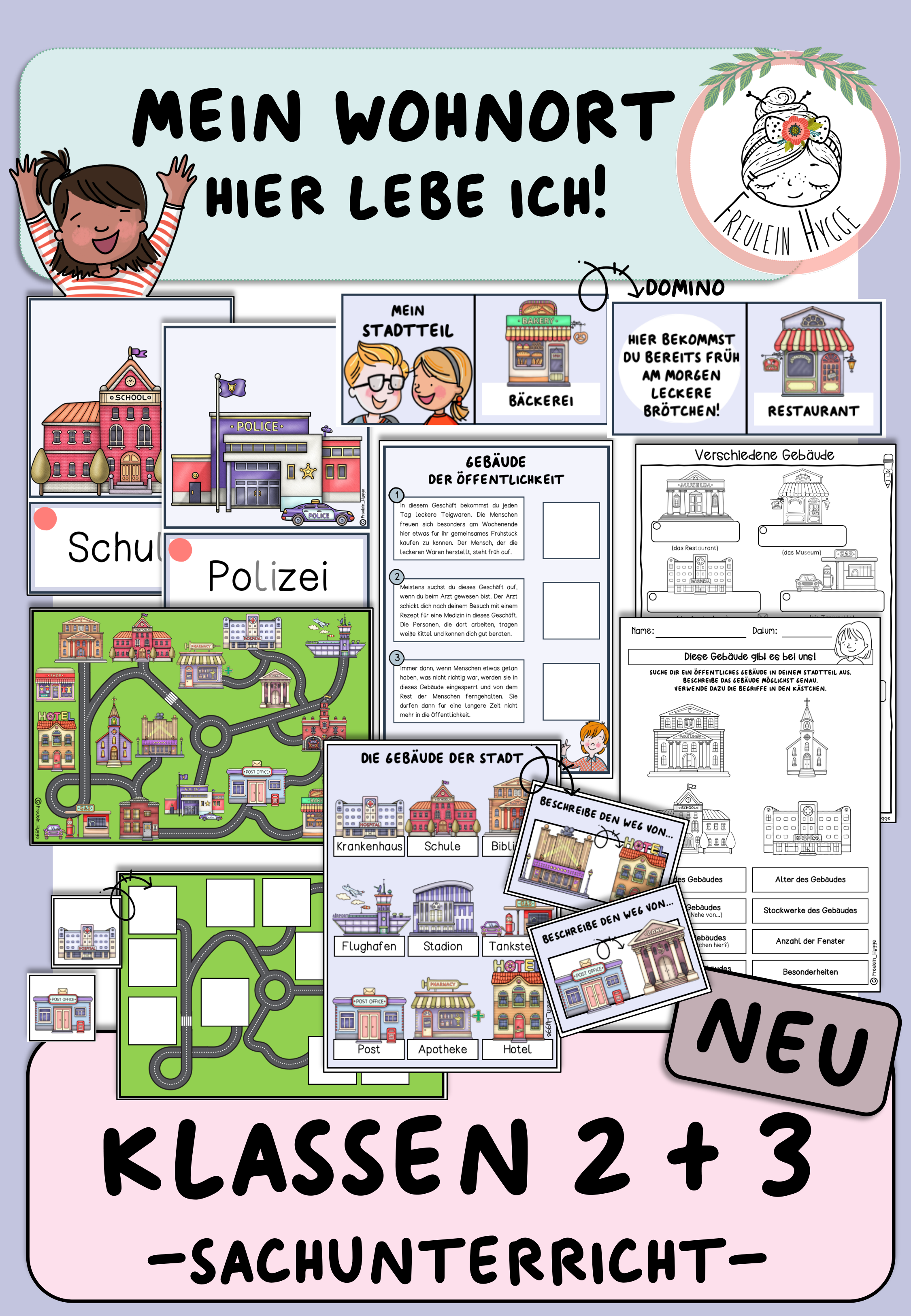 Grundschulmaterial Materialpaket Mein Wohnort Kunstunterricht Grundschulmaterial Kunstunterricht 5 In 2020 Grundschulmaterial Grundschule Sachunterricht Grundschule