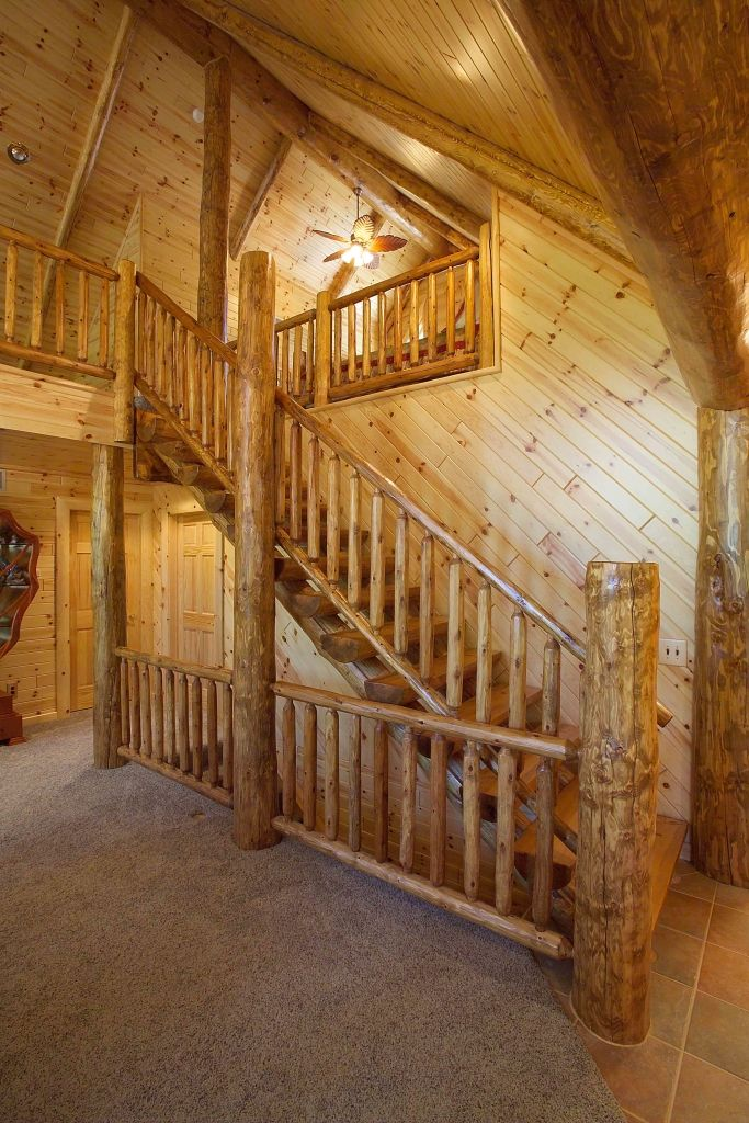 Best Log Railings And Stairs Rustic Staircase Rustic Stairs 640 x 480