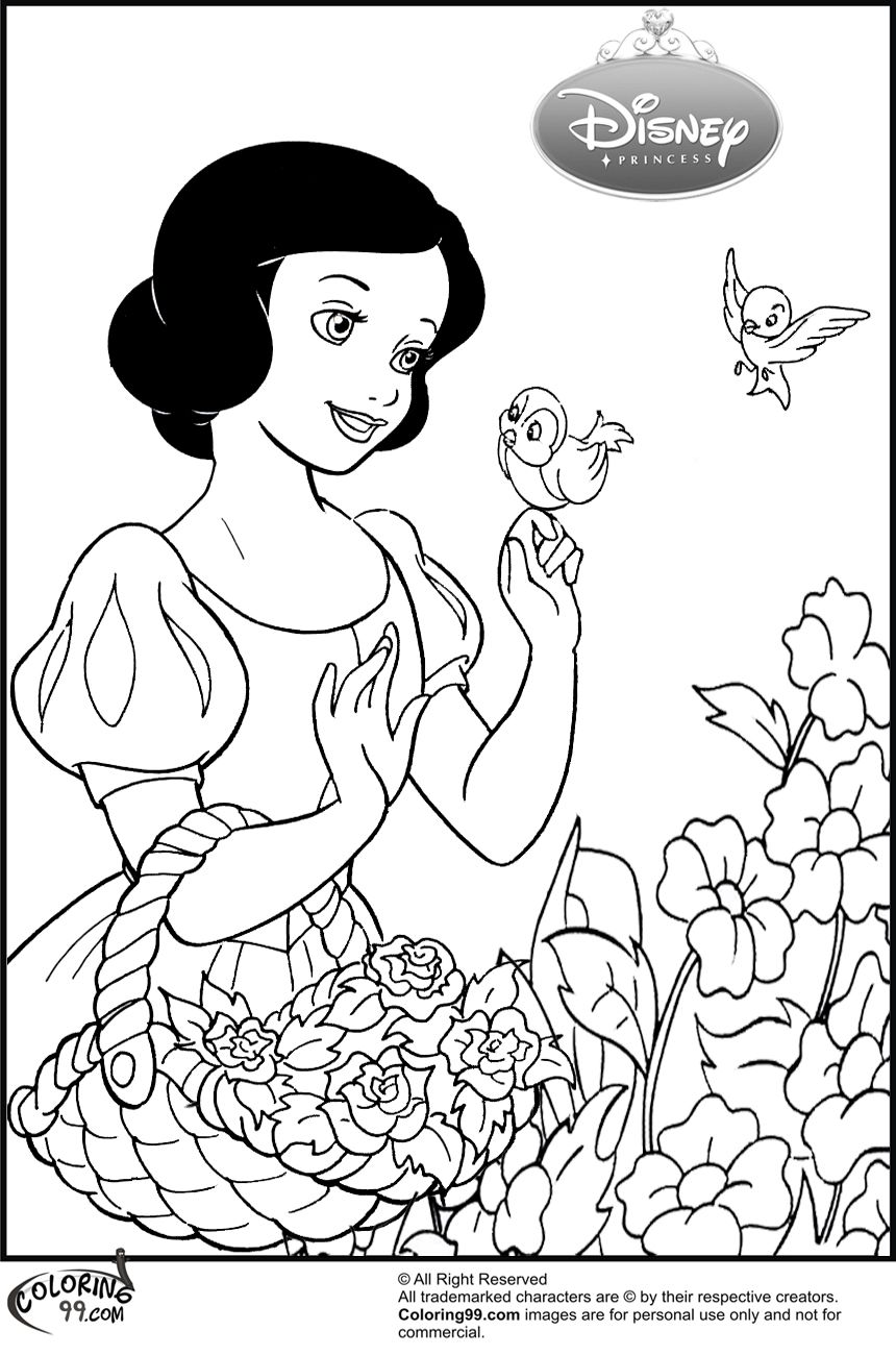 Disney Princess Snow White Coloring