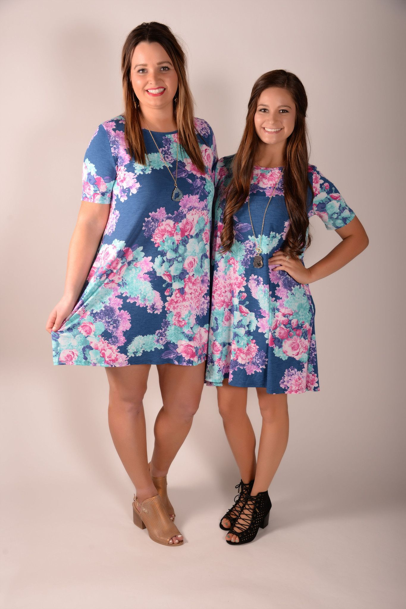Blooming Romance Navy Floral Dress - D261NV