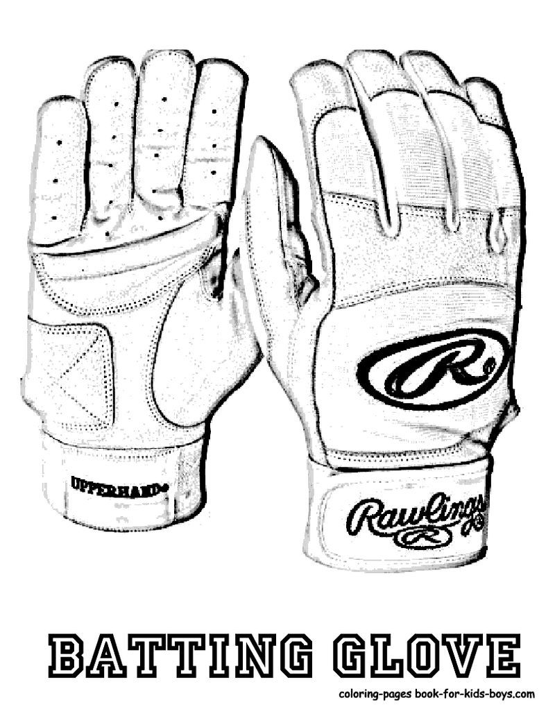 Glove Football Colouring Sheet
