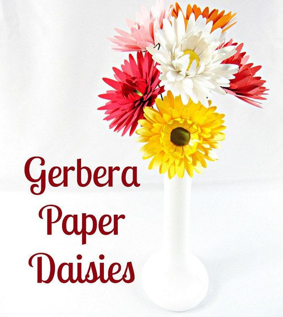 cricut paper flowers | Paper Flowers- Daisy Flower Templates- SVG Flower Cut files- SVG files ...