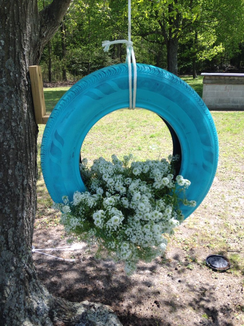My Beautiful Tire Swing Flower Pot Projects Flower Pots Tire