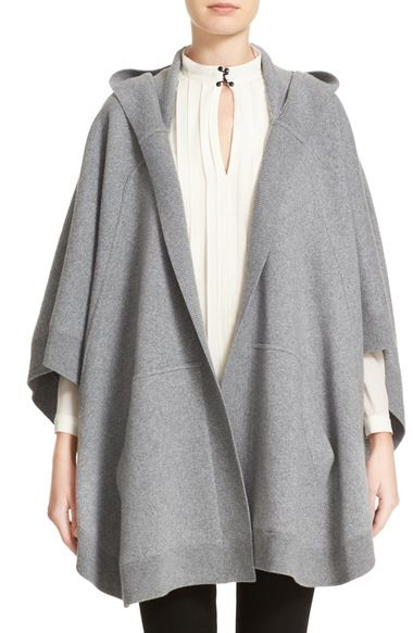 Burberry Carla Hooded Knit Poncho available at #Nordstrom