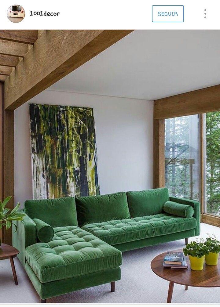 Sofa VerdeDe Color SalonSalas Verde Para El Sofá OPXuTkiZ