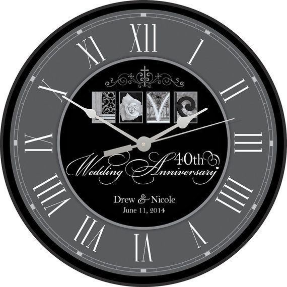 40th Anniversary, Personalized 40th Wedding Anniversary