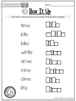 FREE Spelling Activities : Long I : Grade 1 : Spelling on