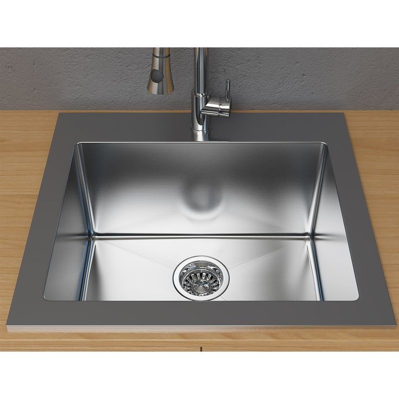 Stainless Steel 25 X 22 Drop In Laundry Sink Sink Stainless