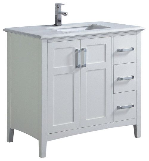 Picture Gallery Website  White Bathroom Vanity with Top