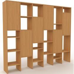 Photo of Wohnwand Eiche – Individuelle Designer-Regalwand: Türen in Eiche – Hochwertige Materialien – 233 x 1