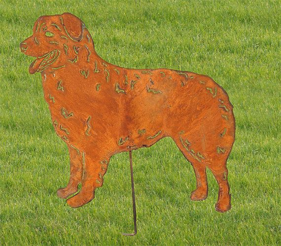 Australian Shepherd Garden Art Or Metal Wall Art Personalized Gift Dog Pet Memorial Aussie Dog Sign Pet Grave Markers Lawn Ornament Australian Shepherd Pet Grave Markers Pet Memorials