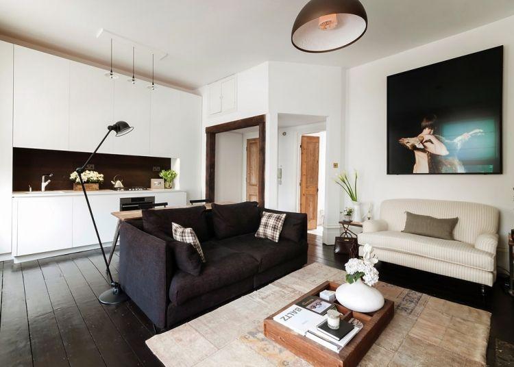 Couchtische aus Massivholz im Wohnzimmer \u2013 50 aktuelle Ideen