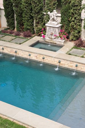 Dallas Landscape Design Portfolio Formal Swimming Pools Our Dream Pool Pool Fountain Pool