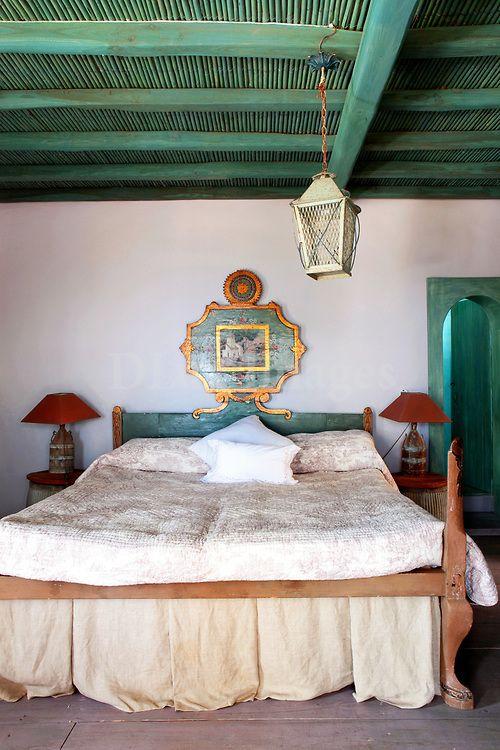 #theforeignarchives #home #inspo Traditional Mediterranean bedroom, Fiore Arduino, Mykonos