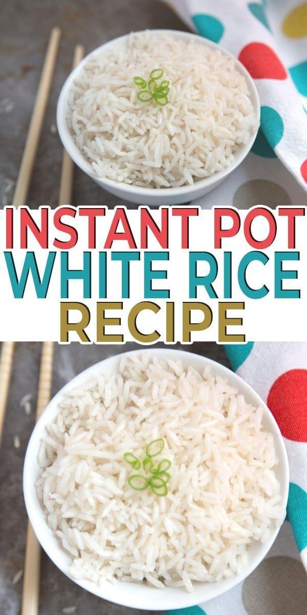 Instant Pot White Rice #whitericerecipes