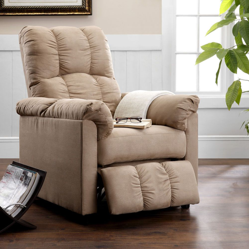 Slim Reclining Chair Lounger Lounge Recliner Lazy Den Nursery RV Small Area NEW #Dorel & Slim Reclining Chair Lounger Lounge Recliner Lazy Den Nursery RV ...