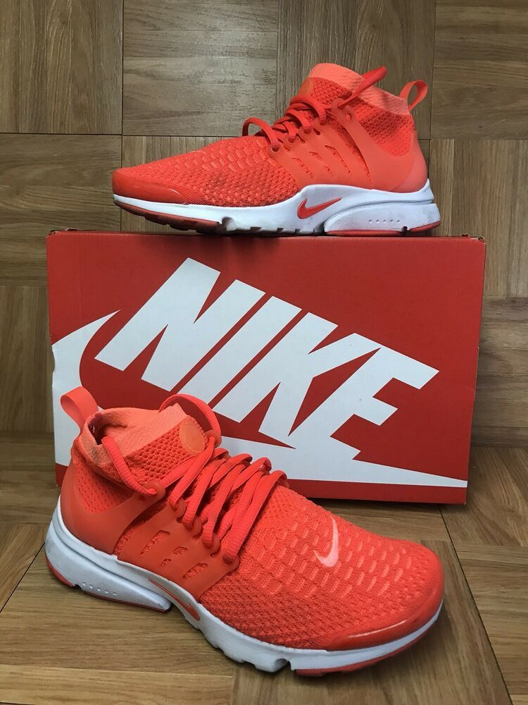 free shipping 0a728 666b3 RARE Nike Air Presto Flyknit Ultra Bright Mango Crimson Sz 8 ...