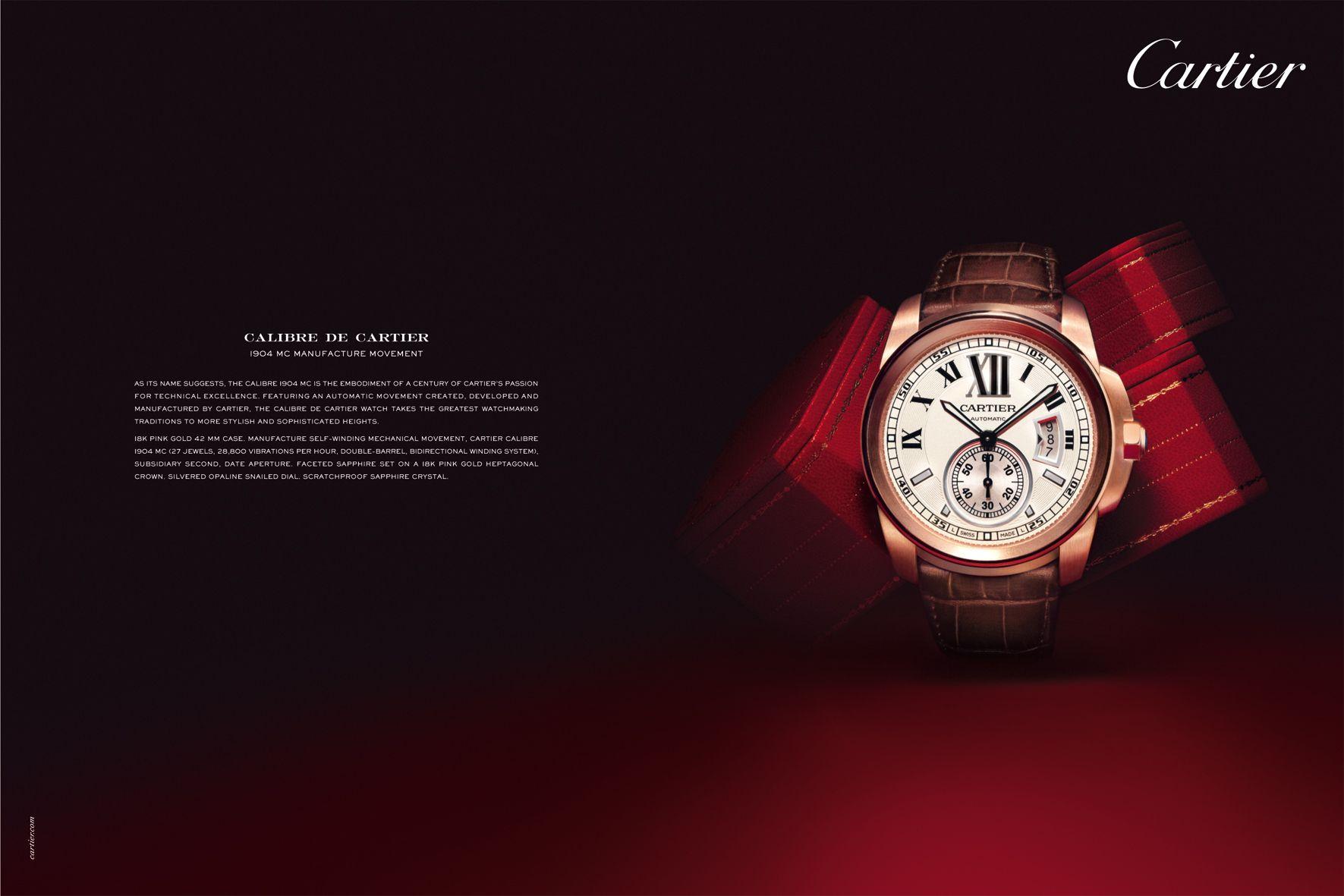 Calibre De Cartier Advertising Watch Design Cartier Calibre Watches For Men