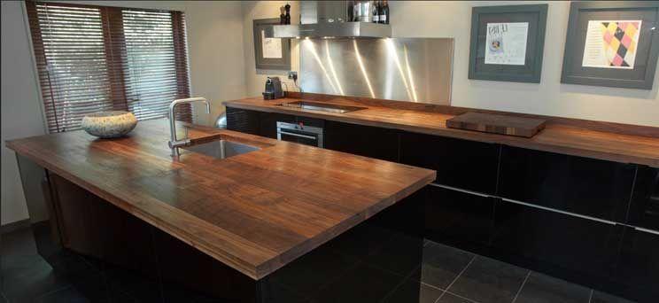 Arbeitsplatte küche massivholz elegante Möbel für innendekoration ...