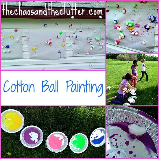 cotton ball painting cotton gross motor and motor skills