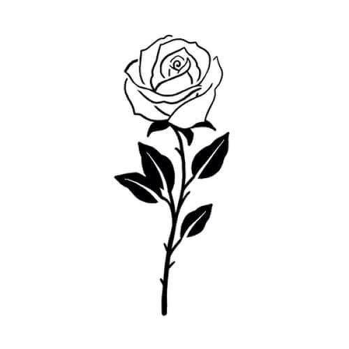 Milly Tattoo Semi Permanent Tattoos By Inkbox Tatuagens Sombreadas Tatuagem Rosa Simples Tatuagem Rosa Preta