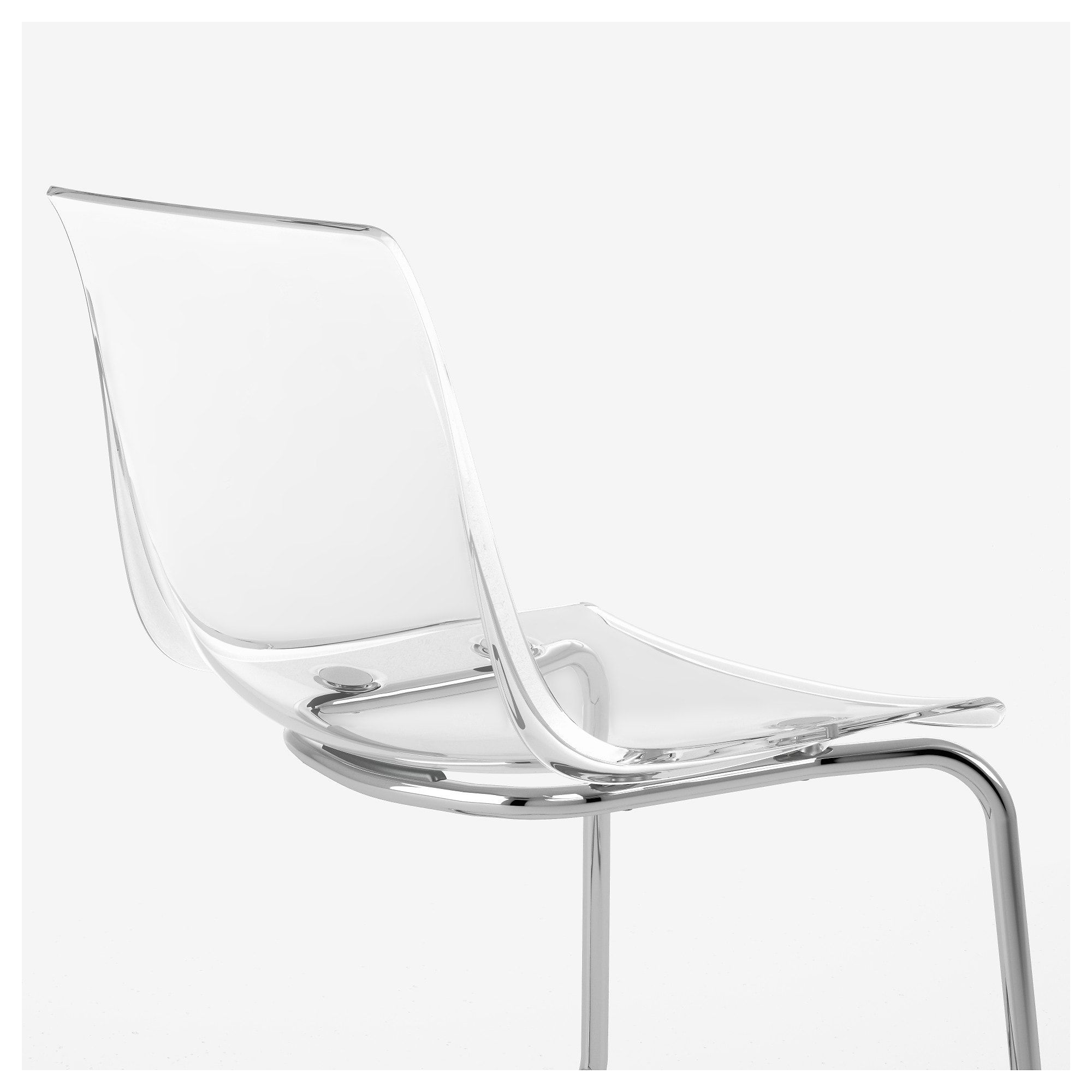 Ikea Us Furniture And Home Furnishings In 2020 Transparent Chair Glass Chair Chrome Plating