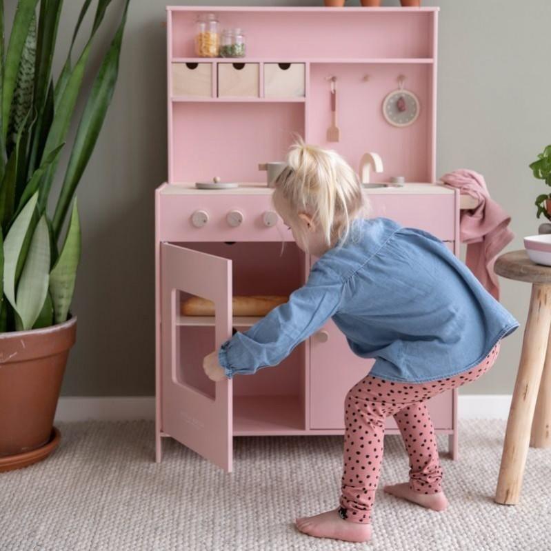 Wooden children's kitchen pink Little Dutch LD4486