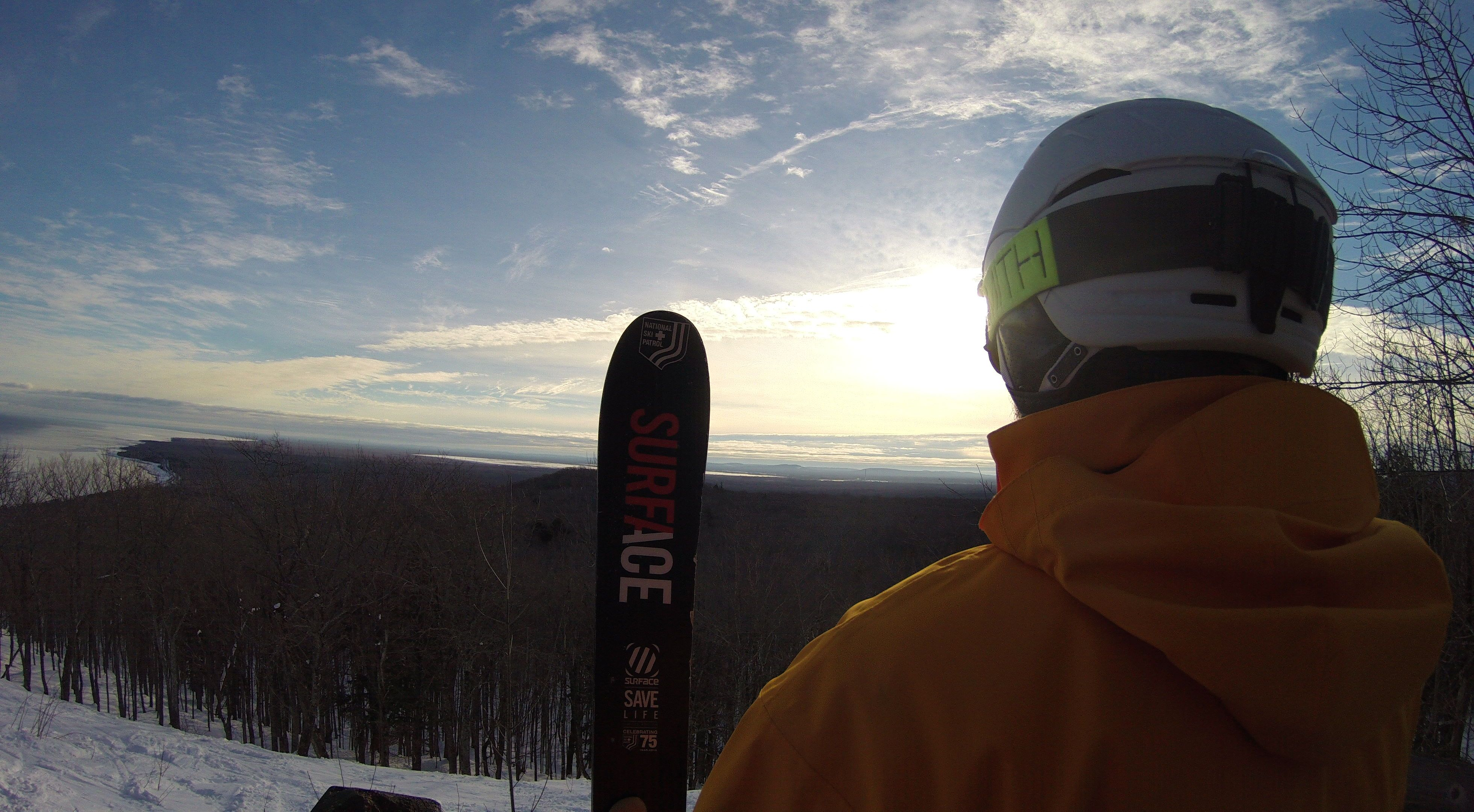 It's quite the view from the top of the hill at the Porcupine Mountain Ski Area...