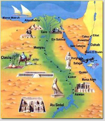 Hurghada Road Map Egypt Map Ancient Egypt Map Egypt Travel