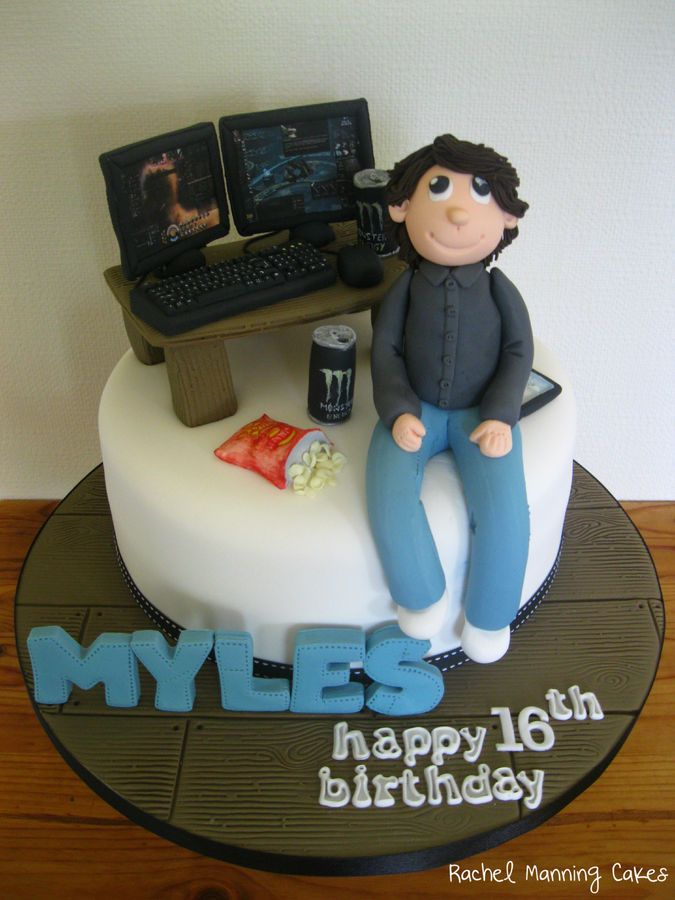 Myles Computer Pc Eve Online Cake With Images Computer Cake