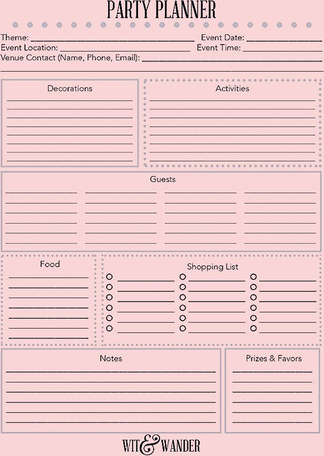 Photo of {Free Printable} Party Planner – Our Handcrafted Life