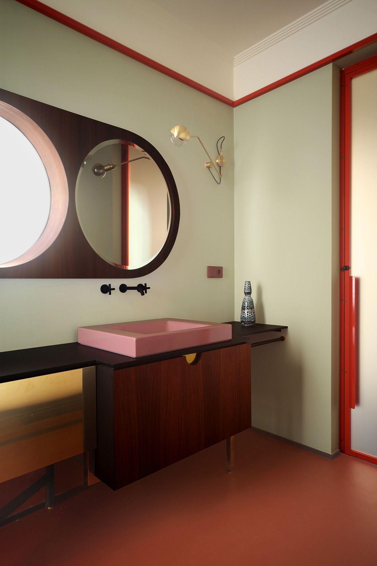 Aseo PRIVADO | Cuarto de baño rojo, Diseño de interiores ...