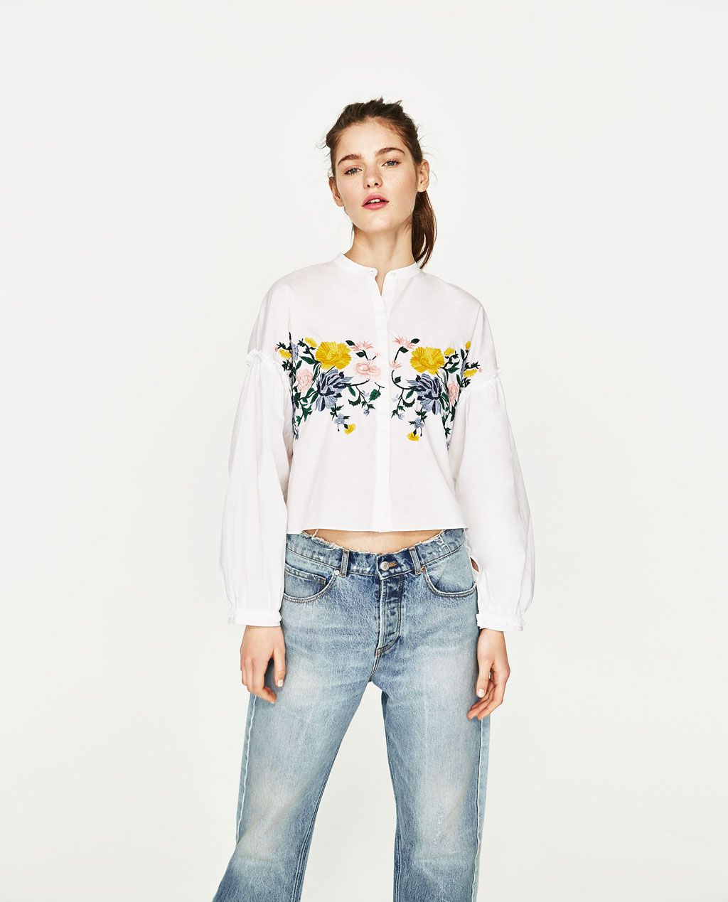 342dfbd6c23917 FLORAL EMBROIDERED SHIRT-View All-TOPS-WOMAN | ZARA United States ...
