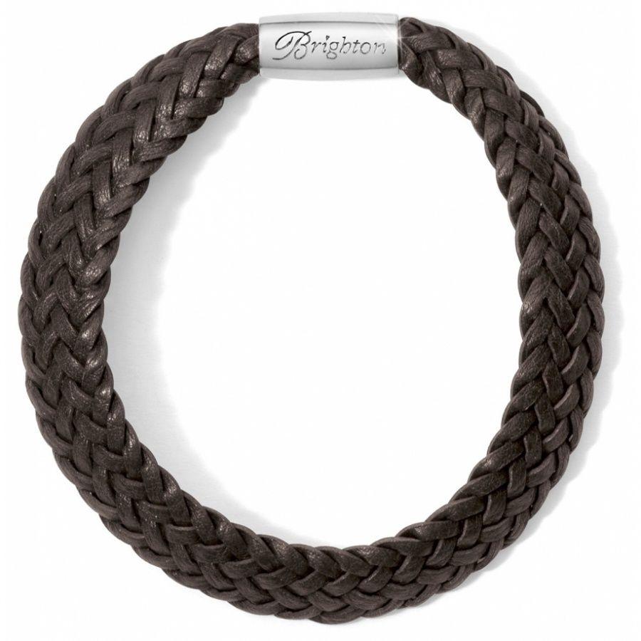 Woodstock Braided Leather Bracelet In Chocolate Braided Leather Bracelet Braided Leather Leather Bracelet