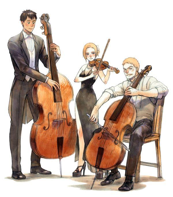 Shingeki no Kyojin, Bertholdt Fubar, Annie Leonhardt and Reiner Braun