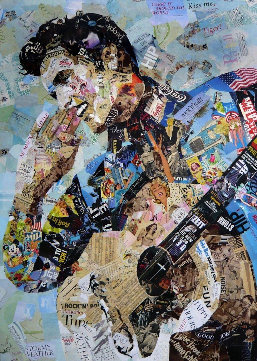 Newspaper Art in 2018   ART • COLLAGE   Pinterest   James dean, Alte ...