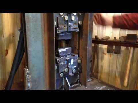 24 Ton Hydraulic Forging Press For Blacksmithing Youtube